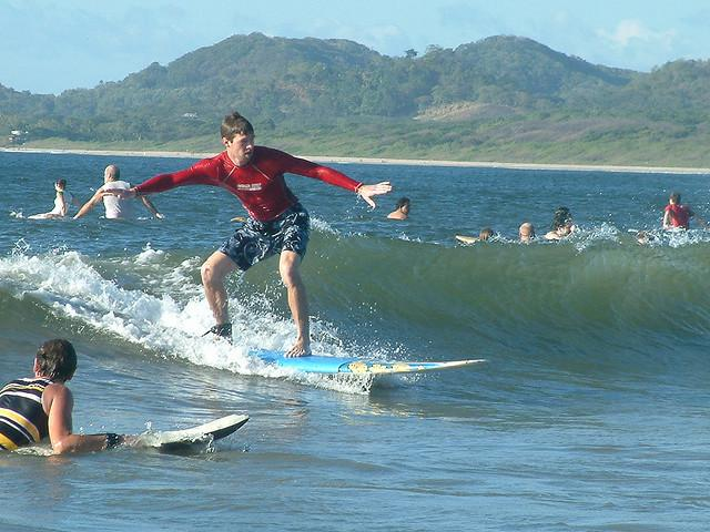 Surfing in Tamarindo Costa Rica