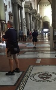 Wearing shorts in an Italian church