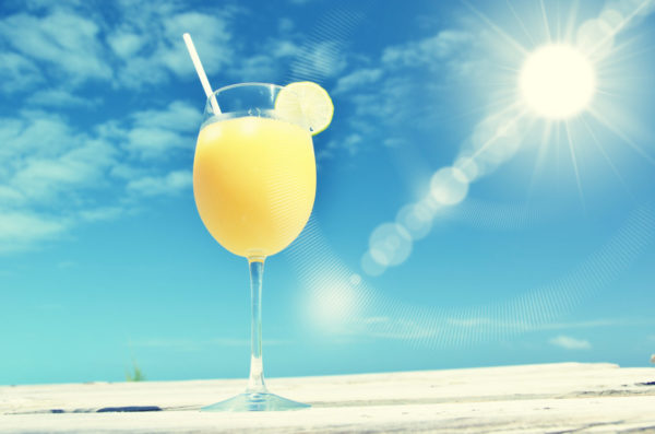 Sun, Sand and a drink in the bahamas