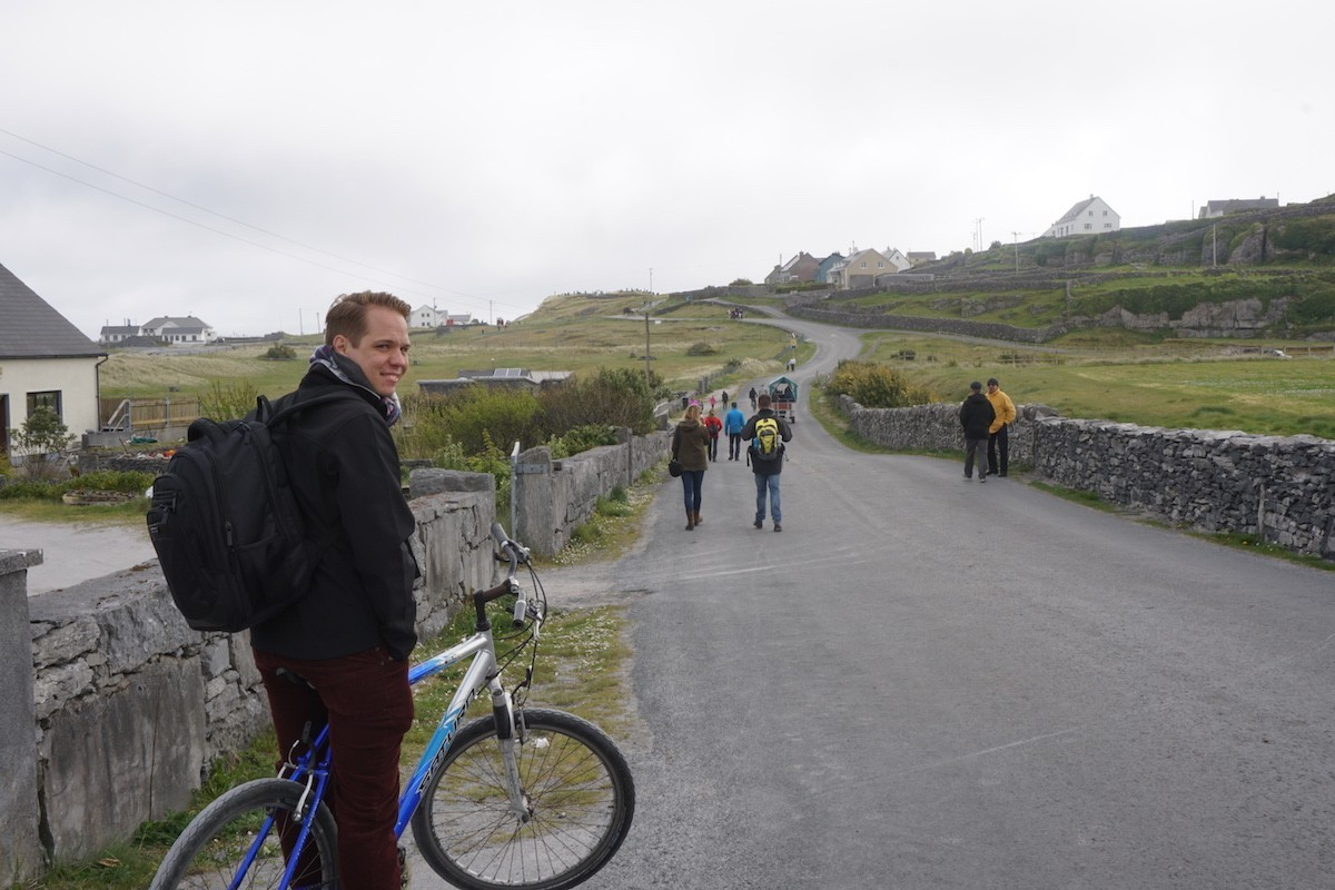 riding bikes on Aran Island, Inis Oírr