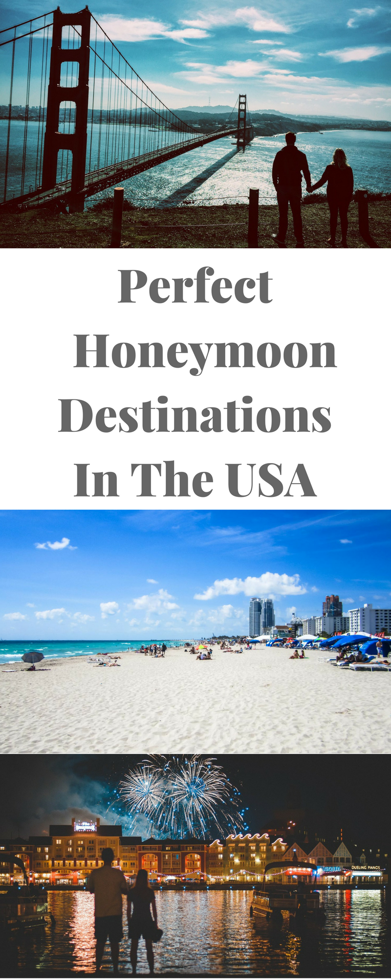 The USA is home to tons of amazing honeymoon destinations. Here are a few of our favorites.