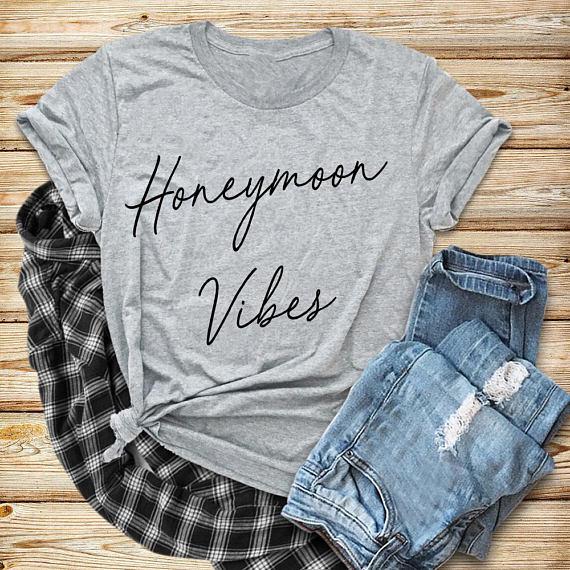 7b64c705a8b 50 Fun Honeymoon T Shirts & Matching Couples Shirts