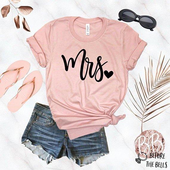 mrs t shirt pink
