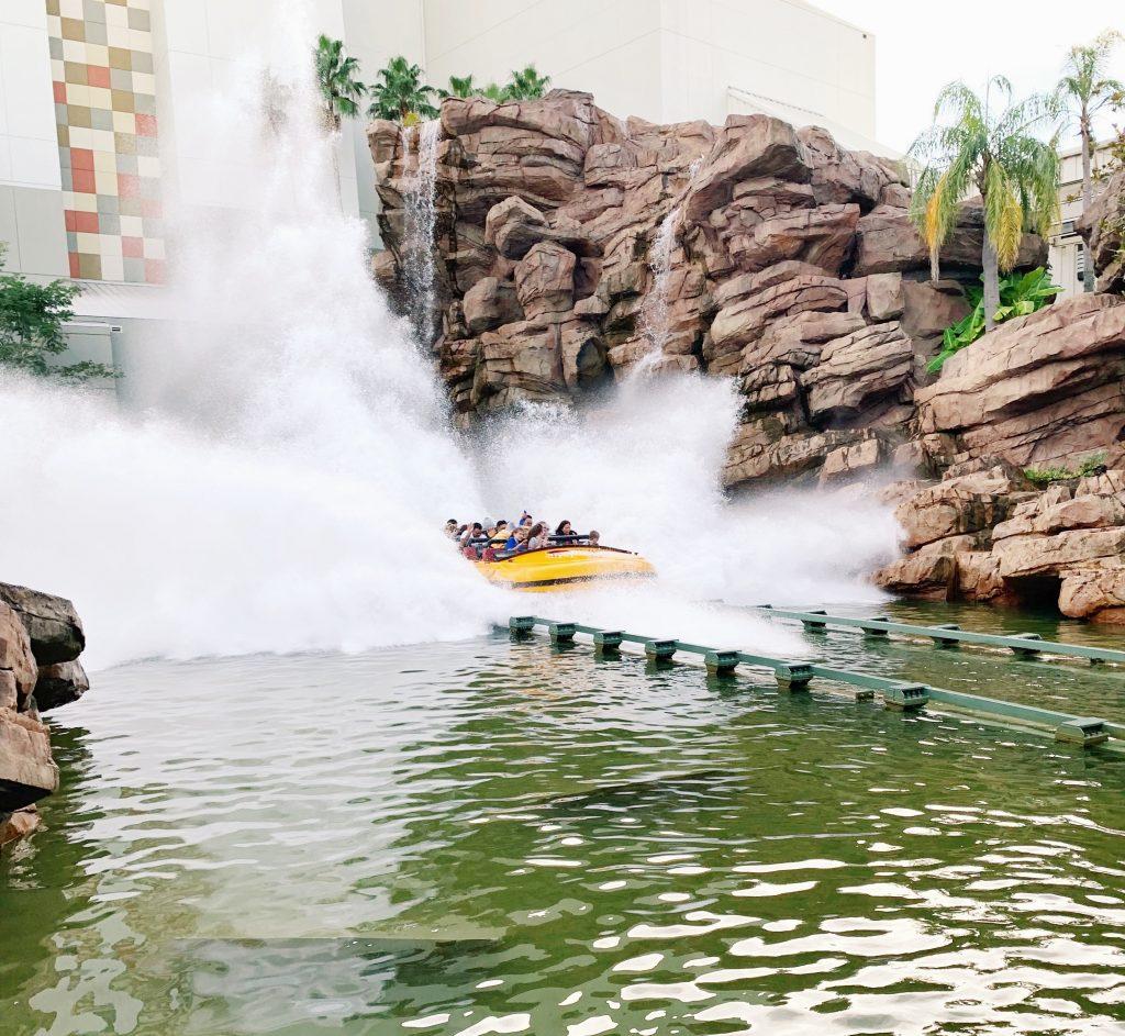 Jurassic Park ride at Universal Studios in Orlando