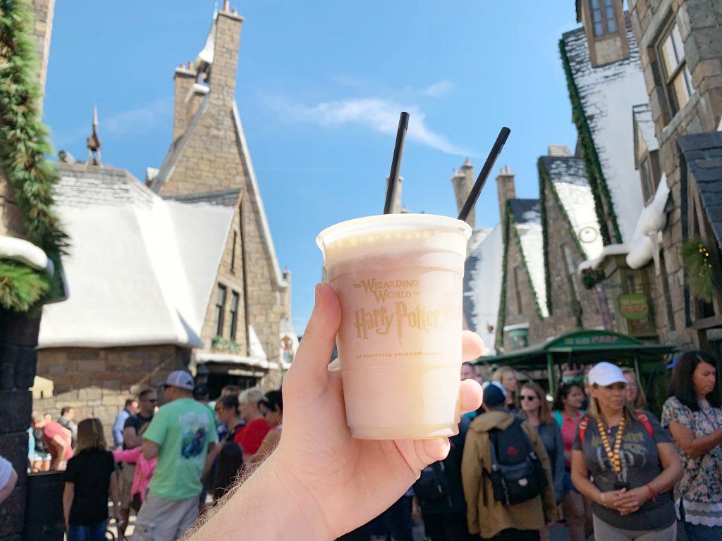 Frozen Butterbeer at the Wizarding World of Harry Potter at Universal Studios in Orlando
