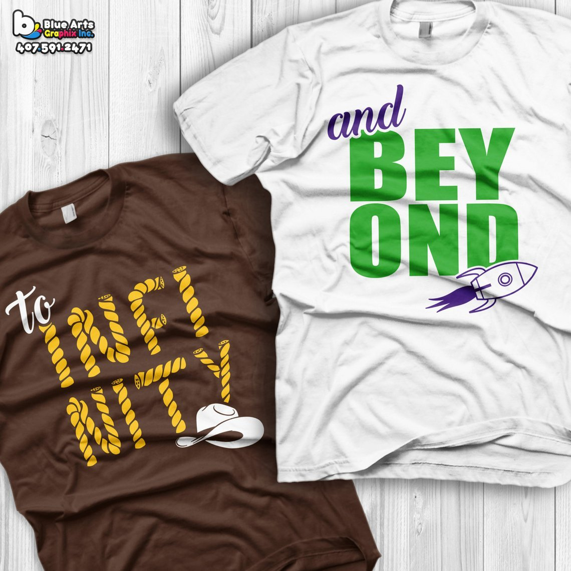 To Infinity & Beyond Couples Tees