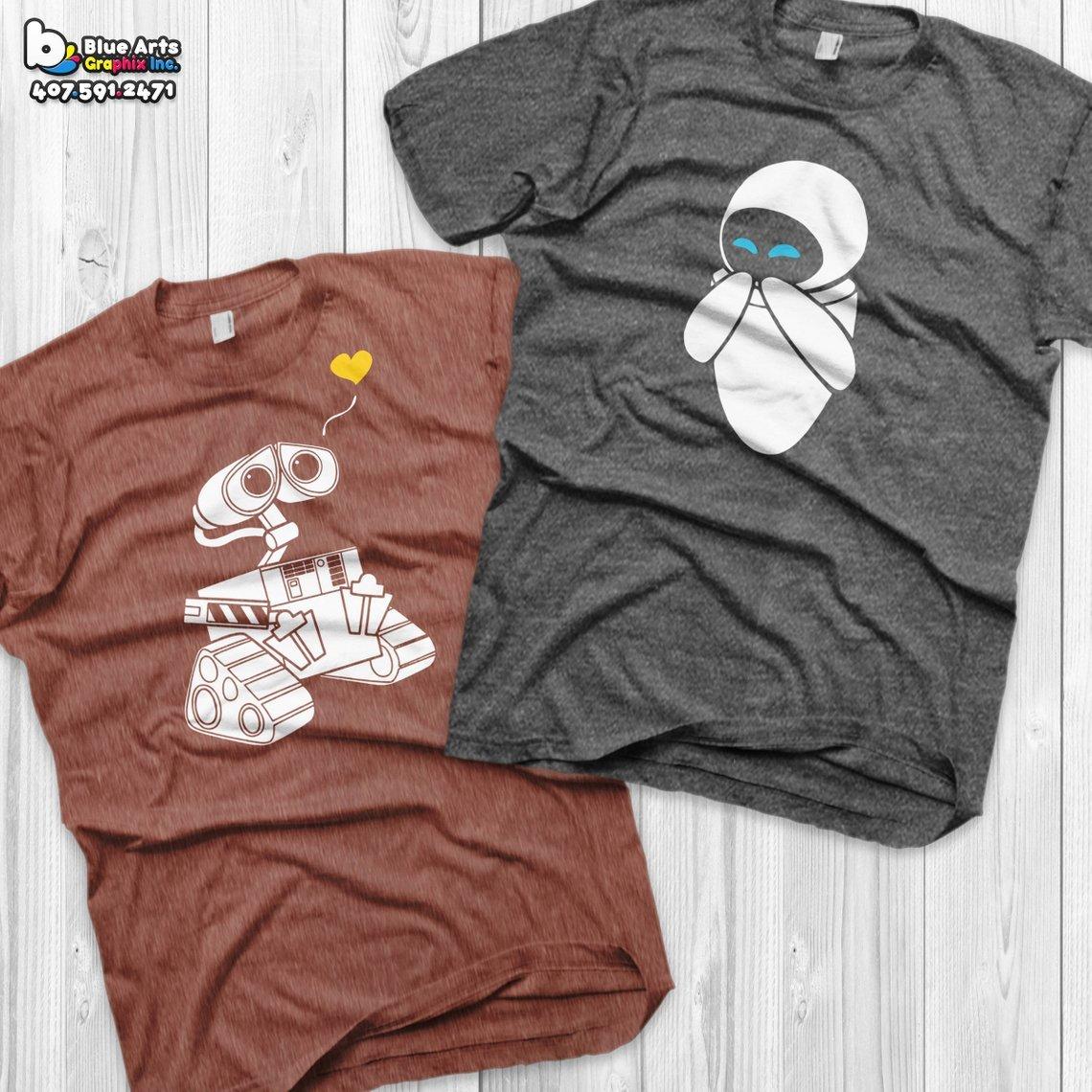 Wall-e Couples Tees