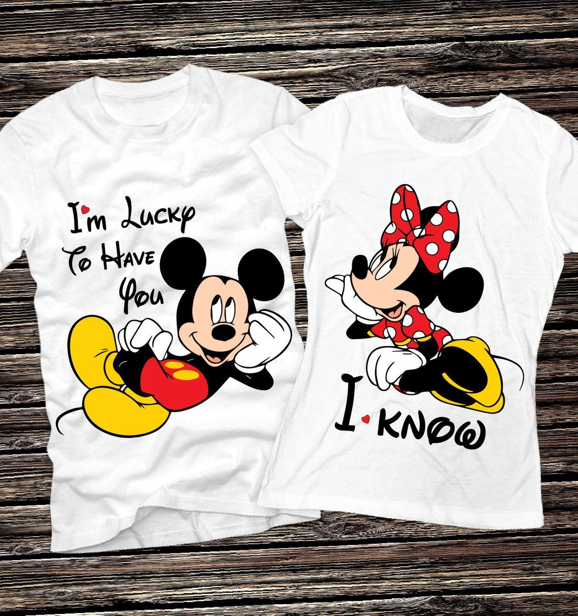 I'm Lucky to Have You Disney Couples Tees