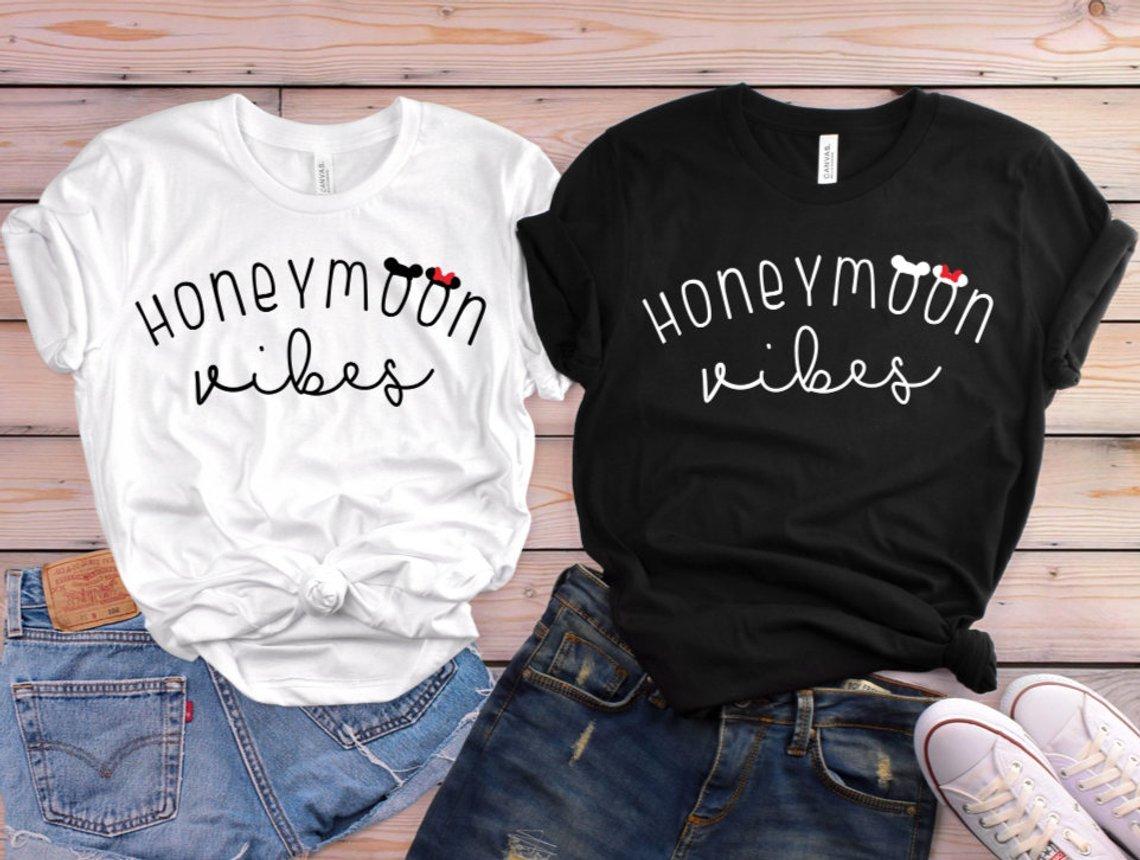 Disney Honeymoon Vibes Matching Couples Tees