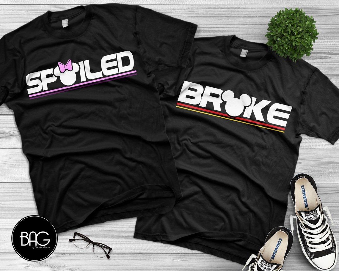 Spoiled / Broke Disney Honeymoon Shirts
