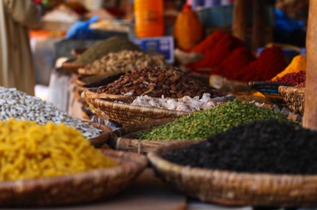 Zanzibar spice market