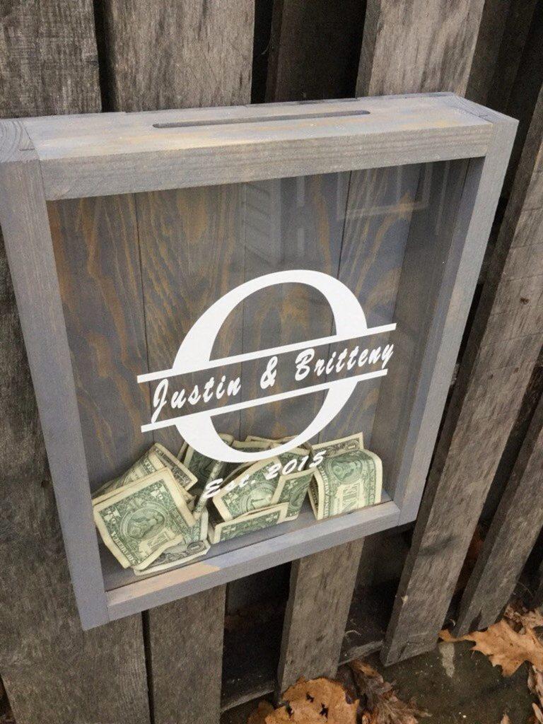 Customized Honeymoon Fund Shadow Box