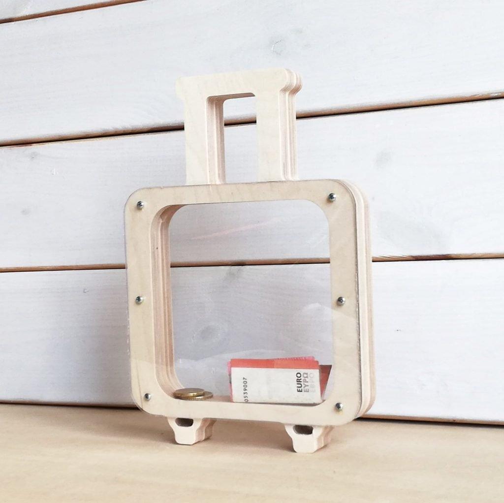 Wooden Suitcase Honeymoon Fund