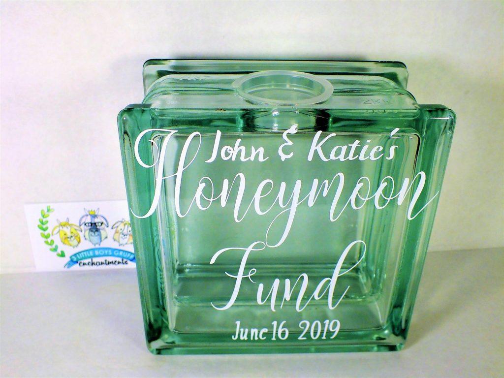 Colored Glass Honeymoon Glass Honeymoon Jar