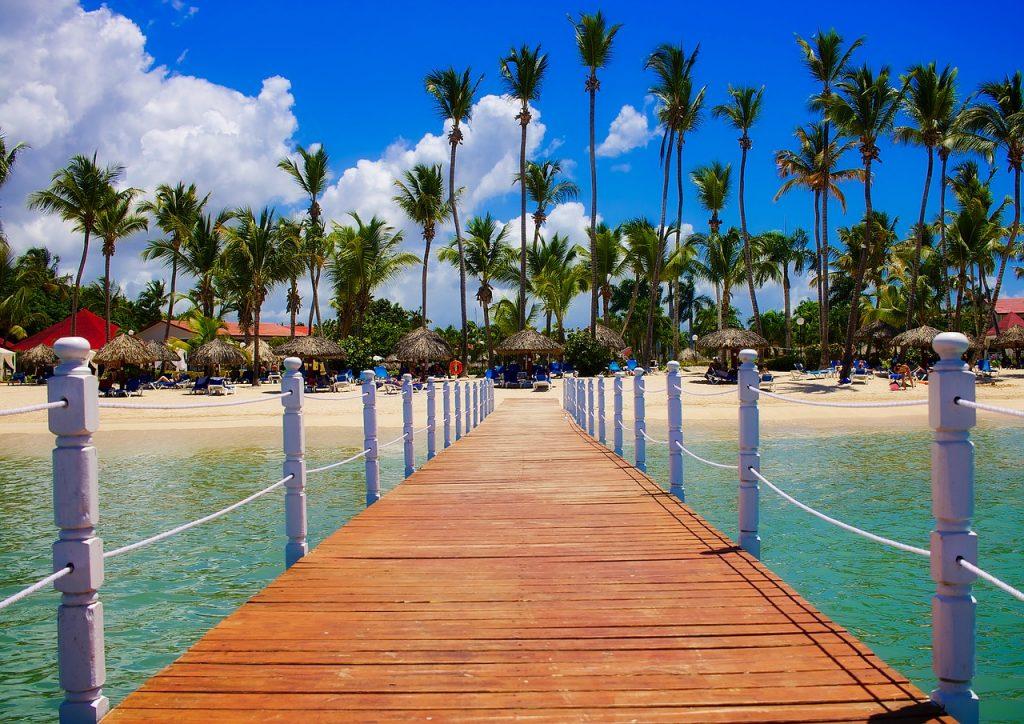 A pier in the dominican republic