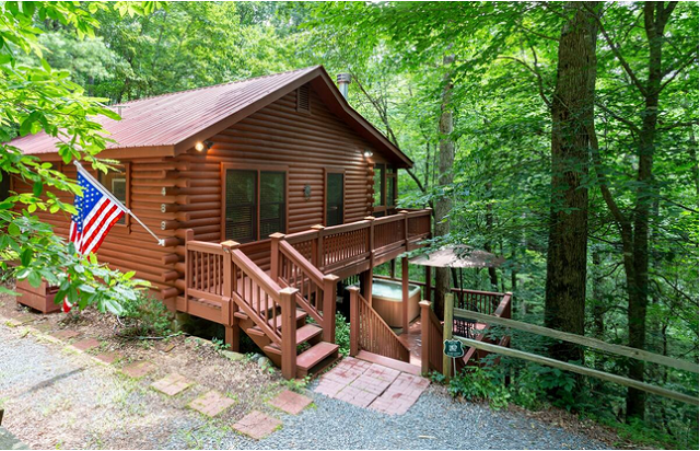 Mountain Spirit Cabin With Hot Tub