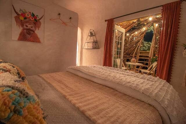 Romantic treehouse cabin bedroom