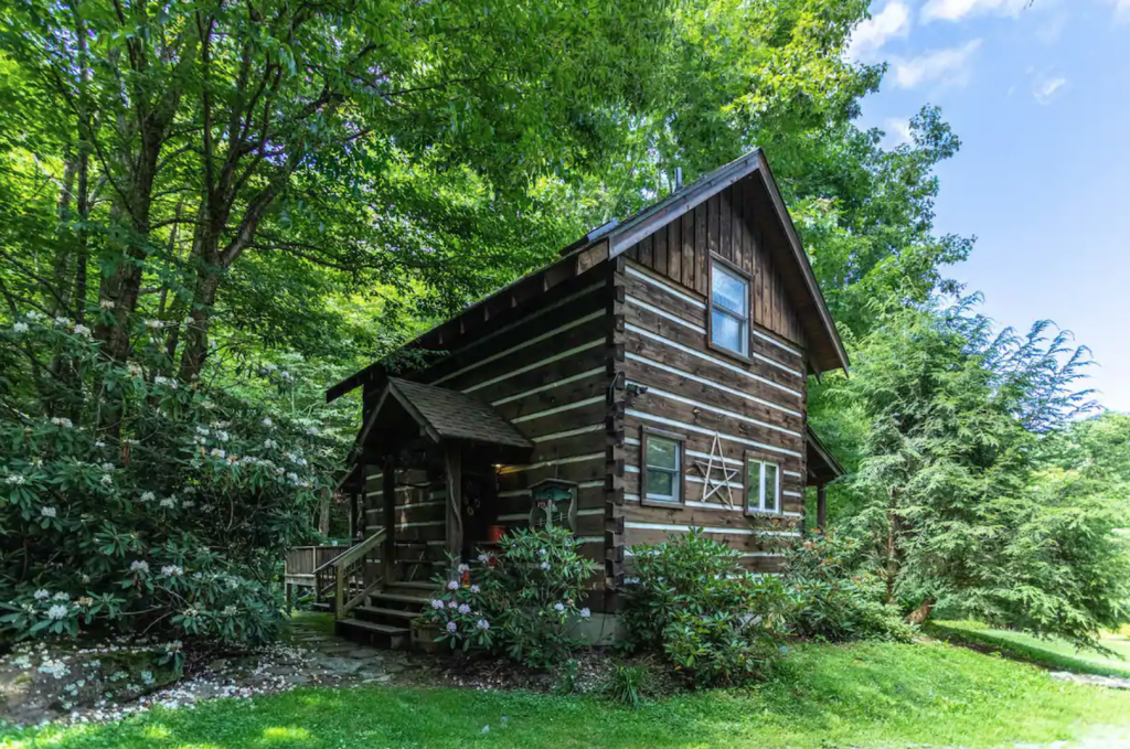 Exterior of Scrollrock Charming Creek-side Cabin 20 Minutes to Boone, North Carolina